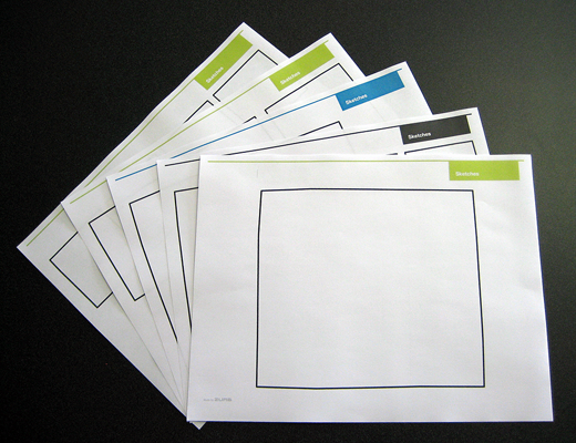 Zurb sketchsheets assorted