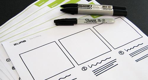 Zurb sketching header