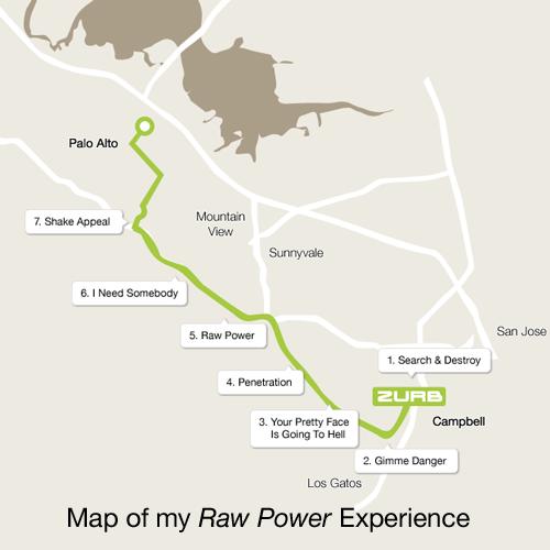 Raw Power map from ZURB to Palo Alto