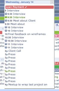Google calendar messy groups 2