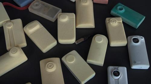 Prototypes of the Flip Mino video recorder