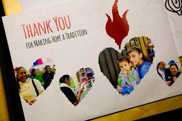 Photo of printed thank-you cards