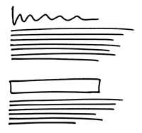 illustration of text and headings sketch
