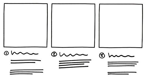 illustration of boxes sketch